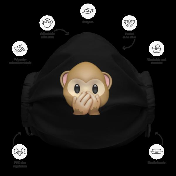 Monkey Emoji Face Mask
