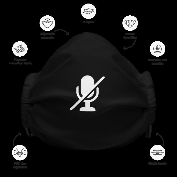 Microphone Mute Face Mask